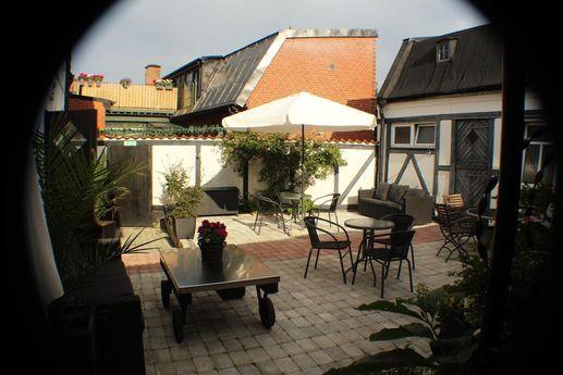 Hotell Bäckagårdens innergård